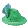 Hat Alpine With feather Green